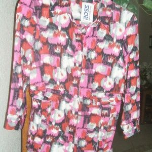 ESSENTIALS BY MILANO BLOUSE SZ S NEW